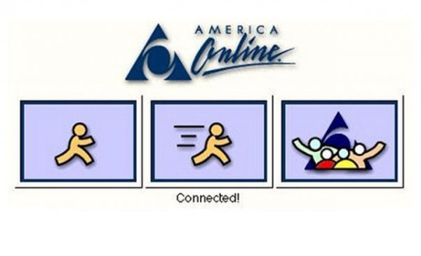 Remember the dial-up sound that was likely to be happening as you saw this